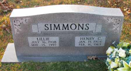 SIMMONS, LILLIE - Pope County, Arkansas | LILLIE SIMMONS - Arkansas Gravestone Photos