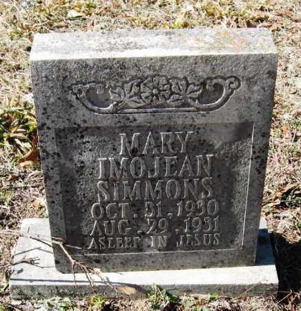 SIMMONS, MARY IMOJEAN - Pope County, Arkansas | MARY IMOJEAN SIMMONS - Arkansas Gravestone Photos
