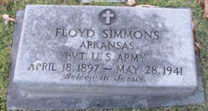 SIMMONS (VETERAN), FLOYD - Pope County, Arkansas | FLOYD SIMMONS (VETERAN) - Arkansas Gravestone Photos