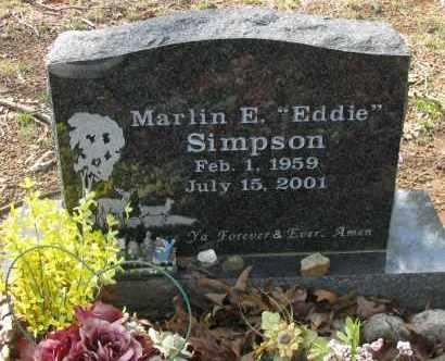 "SIMPSON, MARLIN E  ""EDDIE"" - Pope County, Arkansas | MARLIN E  ""EDDIE"" SIMPSON - Arkansas Gravestone Photos"