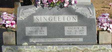 SINGLETON, ANNER E - Pope County, Arkansas | ANNER E SINGLETON - Arkansas Gravestone Photos