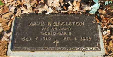 SINGLETON (VETERAN WWII), ARVIL R - Pope County, Arkansas   ARVIL R SINGLETON (VETERAN WWII) - Arkansas Gravestone Photos