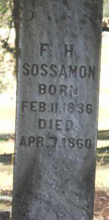 SOSSAMON, FRANKLIN H - Pope County, Arkansas | FRANKLIN H SOSSAMON - Arkansas Gravestone Photos