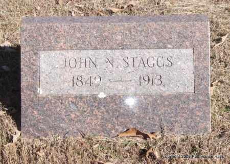 STAGGS, JOHN N - Pope County, Arkansas | JOHN N STAGGS - Arkansas Gravestone Photos