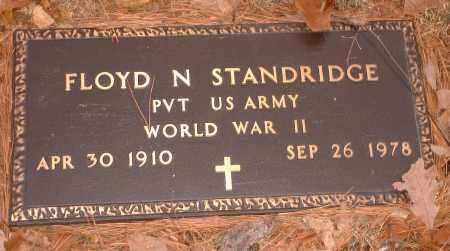 STANDRIDGE  (VETERAN WWII), FLOYD N - Pope County, Arkansas   FLOYD N STANDRIDGE  (VETERAN WWII) - Arkansas Gravestone Photos