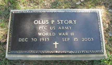 STORY (VETERAN WWII), OLUS P - Pope County, Arkansas   OLUS P STORY (VETERAN WWII) - Arkansas Gravestone Photos