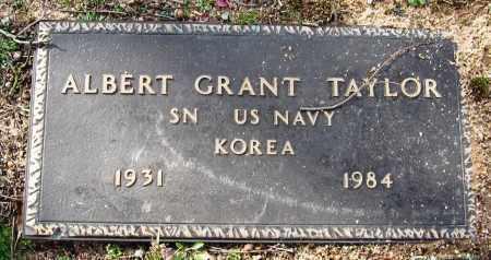 TAYLOR  (VETERAN KOR), ALBERT GRANT - Pope County, Arkansas | ALBERT GRANT TAYLOR  (VETERAN KOR) - Arkansas Gravestone Photos