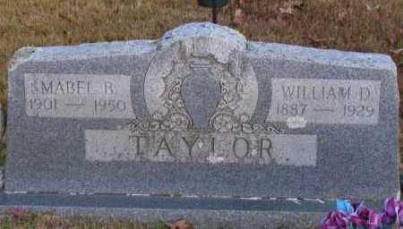 TAYLOR, WILLIAM D - Pope County, Arkansas | WILLIAM D TAYLOR - Arkansas Gravestone Photos