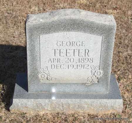 TEETER, GEORGE - Pope County, Arkansas | GEORGE TEETER - Arkansas Gravestone Photos