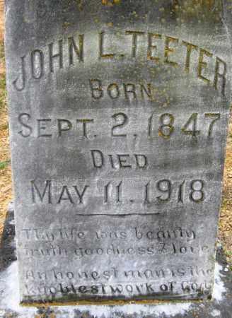 TEETER, JOHN L - Pope County, Arkansas | JOHN L TEETER - Arkansas Gravestone Photos