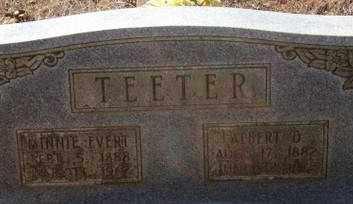 TEETER, MINNIE EVERT - Pope County, Arkansas   MINNIE EVERT TEETER - Arkansas Gravestone Photos