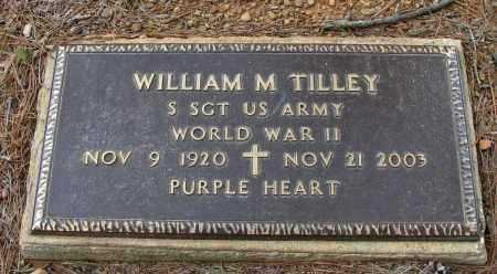 TILLEY (VETERAN WWII), WILLIAM  M - Pope County, Arkansas | WILLIAM  M TILLEY (VETERAN WWII) - Arkansas Gravestone Photos