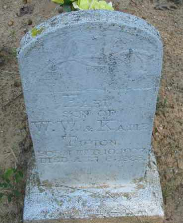 TIPTON, EARL - Pope County, Arkansas | EARL TIPTON - Arkansas Gravestone Photos