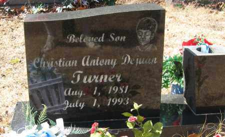 TURNER, CHRISTIAN ANTHONY DEJUAN - Pope County, Arkansas | CHRISTIAN ANTHONY DEJUAN TURNER - Arkansas Gravestone Photos