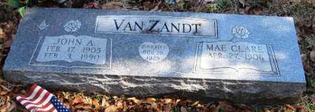 VAN ZANDT, JOHN A - Pope County, Arkansas   JOHN A VAN ZANDT - Arkansas Gravestone Photos