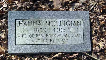 MULLIGIAN VAUGHAN, HANNA - Pope County, Arkansas | HANNA MULLIGIAN VAUGHAN - Arkansas Gravestone Photos