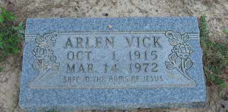 VICK, ARLEN - Pope County, Arkansas | ARLEN VICK - Arkansas Gravestone Photos
