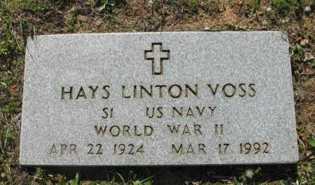 VOSS (VETERAN WWII), HAYS LINTON - Pope County, Arkansas | HAYS LINTON VOSS (VETERAN WWII) - Arkansas Gravestone Photos