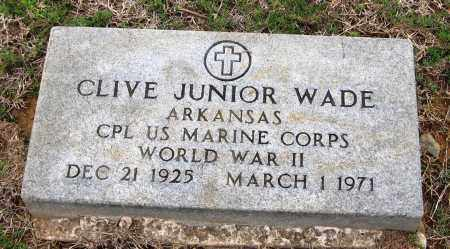 WADE  (VETERAN WWII), CLIVE JUNIOR - Pope County, Arkansas | CLIVE JUNIOR WADE  (VETERAN WWII) - Arkansas Gravestone Photos