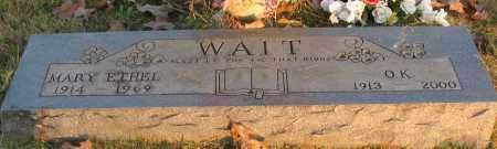 WAIT, MARY ETHEL - Pope County, Arkansas | MARY ETHEL WAIT - Arkansas Gravestone Photos