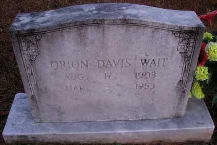 WAIT, ORION DAVIS - Pope County, Arkansas | ORION DAVIS WAIT - Arkansas Gravestone Photos