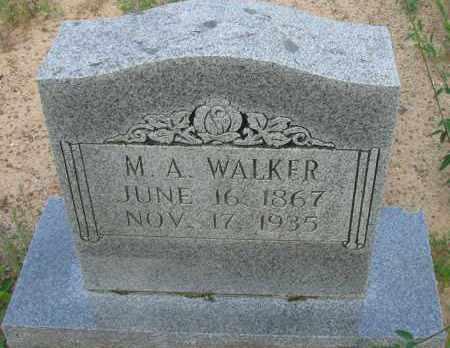 WALKER, M  A - Pope County, Arkansas   M  A WALKER - Arkansas Gravestone Photos
