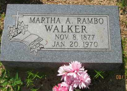 RAMBO WALKER, MARTHA A - Pope County, Arkansas | MARTHA A RAMBO WALKER - Arkansas Gravestone Photos