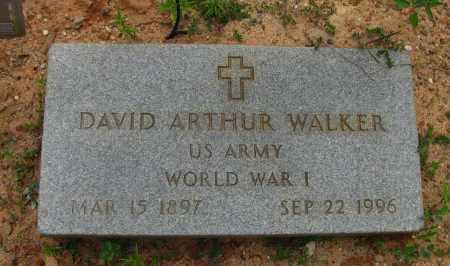 WALKER (VETERAN WWI), DAVID ARTHUR - Pope County, Arkansas | DAVID ARTHUR WALKER (VETERAN WWI) - Arkansas Gravestone Photos