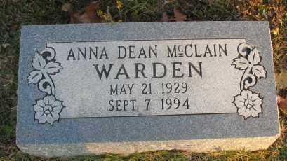 WARDEN, ANNA DEAN - Pope County, Arkansas | ANNA DEAN WARDEN - Arkansas Gravestone Photos