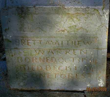 WARREN, BRETT MATTHEW - Pope County, Arkansas | BRETT MATTHEW WARREN - Arkansas Gravestone Photos