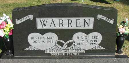 WARREN, JUNIOR LEO - Pope County, Arkansas | JUNIOR LEO WARREN - Arkansas Gravestone Photos