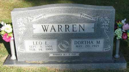 WARREN, LEO E - Pope County, Arkansas | LEO E WARREN - Arkansas Gravestone Photos