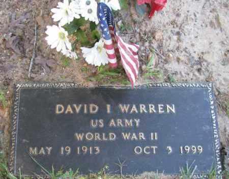 WARREN (VETERAN WWII), DAVID I - Pope County, Arkansas   DAVID I WARREN (VETERAN WWII) - Arkansas Gravestone Photos