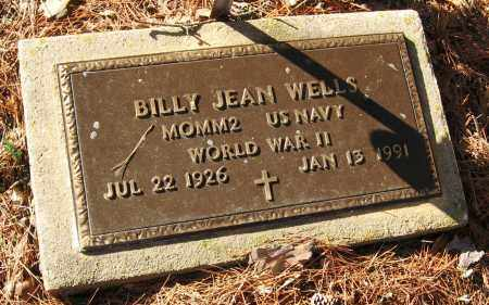 WELLS  (VETERAN WWII), BILLY JEAN - Pope County, Arkansas | BILLY JEAN WELLS  (VETERAN WWII) - Arkansas Gravestone Photos
