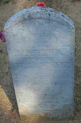 WEST, MARTHA A - Pope County, Arkansas   MARTHA A WEST - Arkansas Gravestone Photos