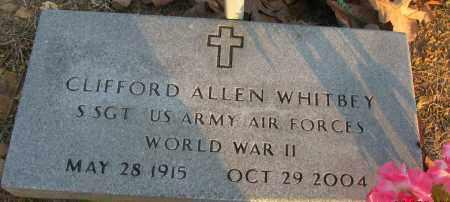 WHITBEY (VETERAN WWII), CLIFFORD ALLEN - Pope County, Arkansas   CLIFFORD ALLEN WHITBEY (VETERAN WWII) - Arkansas Gravestone Photos