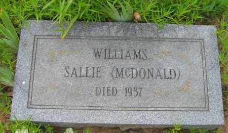 WILLIAMS, SALLIE - Pope County, Arkansas | SALLIE WILLIAMS - Arkansas Gravestone Photos