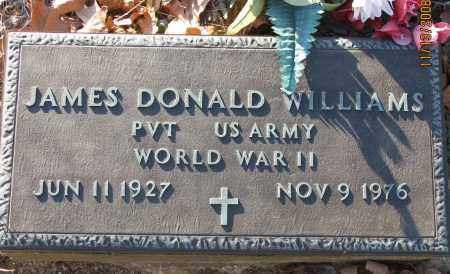 WILLIAMS (VETERAN WWII), JAMES DONALD - Pope County, Arkansas | JAMES DONALD WILLIAMS (VETERAN WWII) - Arkansas Gravestone Photos