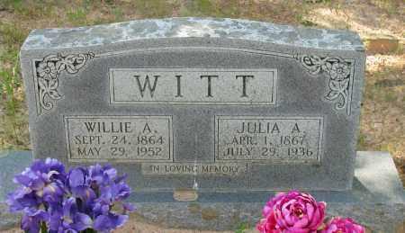 WITT, JULIA A - Pope County, Arkansas | JULIA A WITT - Arkansas Gravestone Photos