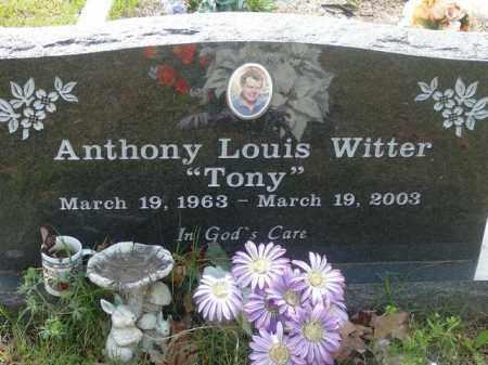 WITTER, ANTHONY - Pope County, Arkansas   ANTHONY WITTER - Arkansas Gravestone Photos
