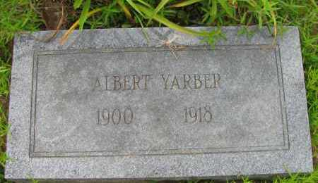 YARBER, ALBERT - Pope County, Arkansas | ALBERT YARBER - Arkansas Gravestone Photos