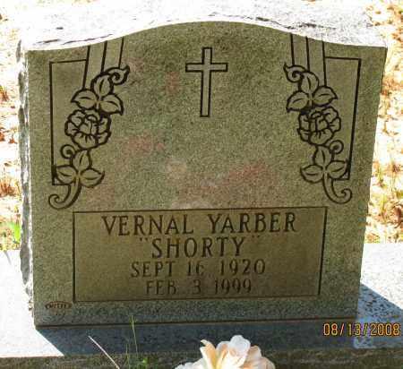 "YARBER, VERNAL ""SHORTY"" - Pope County, Arkansas | VERNAL ""SHORTY"" YARBER - Arkansas Gravestone Photos"
