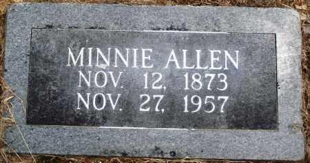 ALLEN, MINNIE - Prairie County, Arkansas   MINNIE ALLEN - Arkansas Gravestone Photos