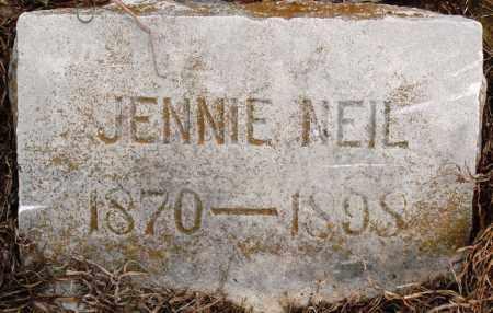 NEIL COLLINS, JENNIE - Prairie County, Arkansas | JENNIE NEIL COLLINS - Arkansas Gravestone Photos