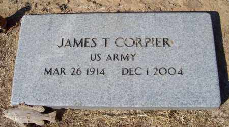 CORPIER  (VETERAN), JAMES T - Prairie County, Arkansas | JAMES T CORPIER  (VETERAN) - Arkansas Gravestone Photos