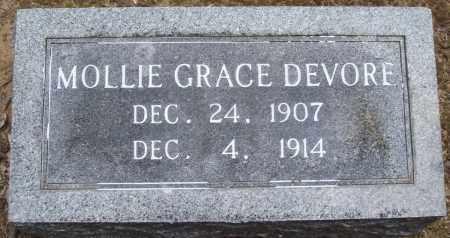 DEVORE, MOLLIE GRACE - Prairie County, Arkansas | MOLLIE GRACE DEVORE - Arkansas Gravestone Photos