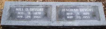DEVORE, WILL D - Prairie County, Arkansas   WILL D DEVORE - Arkansas Gravestone Photos