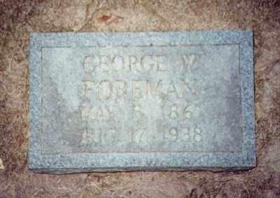 FOREMAN, GEORGE W - Prairie County, Arkansas | GEORGE W FOREMAN - Arkansas Gravestone Photos