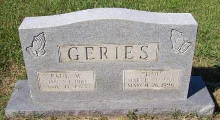 GERIES, PAUL W - Prairie County, Arkansas | PAUL W GERIES - Arkansas Gravestone Photos