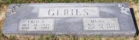 GERIES, FRED A - Prairie County, Arkansas | FRED A GERIES - Arkansas Gravestone Photos
